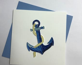 Anchor Quilling Greeting Card