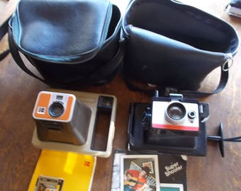 Vintage Lot of Cameras & Accessories Kodak, Polaroid, Vititar, Keystone