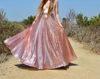 Sequin Maxi Skirt - Full 3/4 Circle