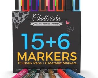 Chalk Pens & Metallic Colours