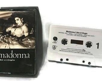 Madonna - Like a Virgin (audio cassette tape 1986) Vintage Pop