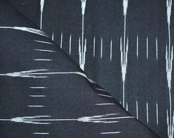 SALE 15% Beautiful Black and White Ikat Pattern Fabric by the Yard