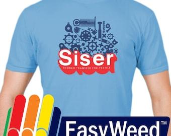 "Siser EasyWeed Heat Transfer Vinyl, Sold in 12"" x 15"" sheets - Easy Weed Vinyl Sheets - HTV - Siser"