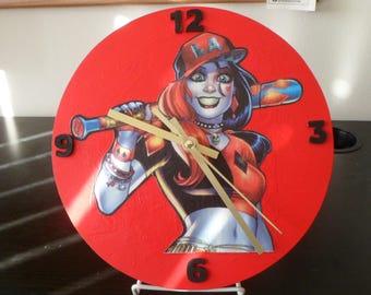 Harley Quinn Custom Wooden Clock