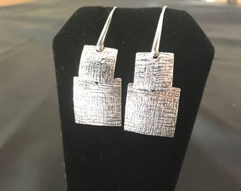 Square Silver Earings