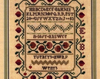 Strawberry Sampler by Sampler House Counted Cross Stitch Pattern/Chart