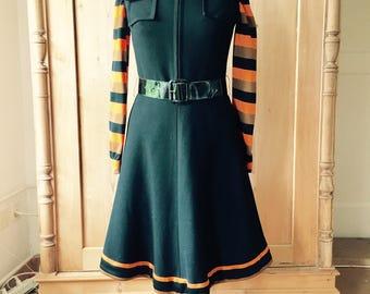 fabulous 1960s parisienne 2 piece dress set