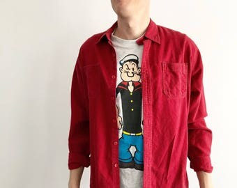 Red roots flannel shirt