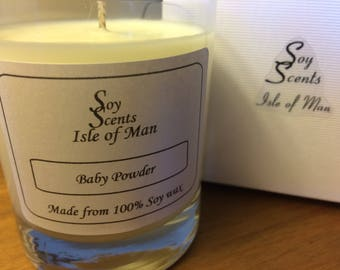 Soy Wax Candle - Baby Powder 20cl Candle, Isle of Man handmade