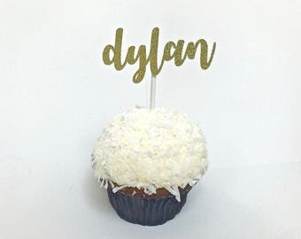 12 pc. Custom Name Cupcake Toppers, Personalized Cupcake Toppers, Cupcake topper, Birthday Cupcake Topper