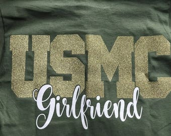 Marine Girlfriend,  Long Sleeve Tee