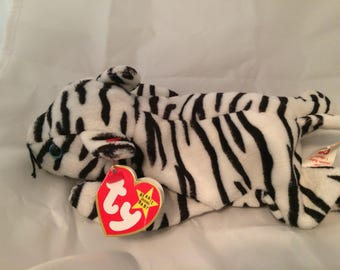 Ty Beanie Baby Blizzard the Tiger Original Size MWT December 12, 1996 Gift Quality