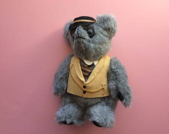 Kent Collectible Bear 1985 (Jean Steele) Gray Jointed Teddy Bear