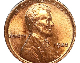 1925 Lincoln Wheat Cent - Gem BU / MS RD / Unc
