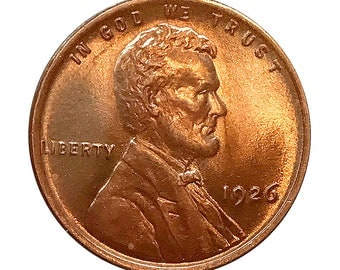 1926 P Lincoln Wheat Cent - Gem BU / MS RD / Unc