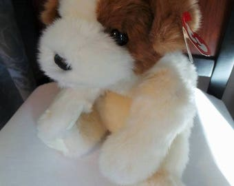"""TY Classic Puppy Dog Named """"Baby Patches"""" Plush Stuffed"""