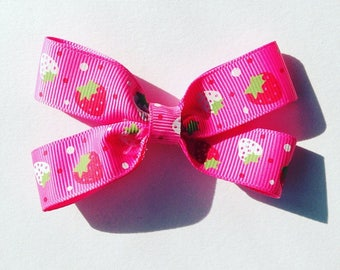 Strawberry Pink Hair Bow