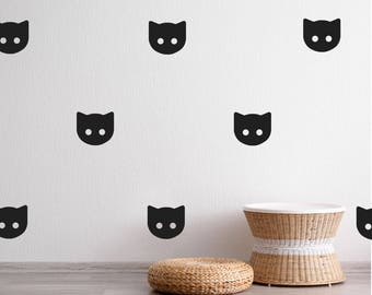Cat Wall Decal - Wall Sticker - Wall Decal Kids Pattern | PP119