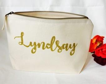 Personalised Bridesmaid gift makeup bag
