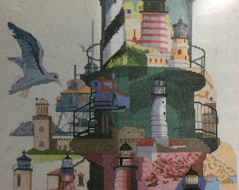 "SPRINGSALE C-stitch ""Lighthouses of America"" counted cross stitch kit FHF 003"