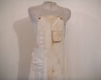 Vintage workwear, vintage apron, work apron, 1950s apron, canvas workwear, vintage clothing