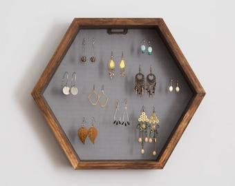 Hexagon Jewelry Earring Display