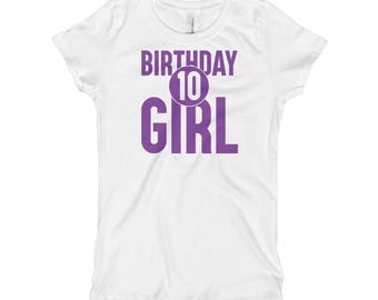 Birthday Girl 10th Girl's T-ShirtGift