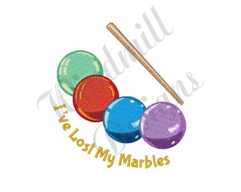Lost My Marbles - Machine Embroidery Design