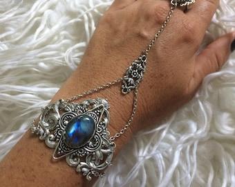 Labradorite harness bracelet