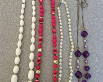 Lot of 4 Vintage Beaded Necklaces