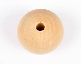 Large diameter 40mm wooden beads