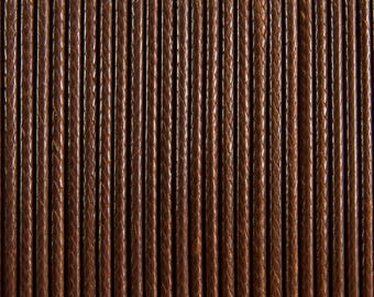 """#52502-10 meters waxed polyester cord 2 mm """"coconut brown"""" Korean"""