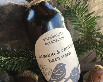 ALMOND & VANILLA Body Wash ~ Liquid Soap