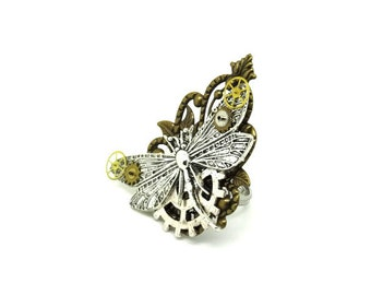 steampunk Dragonfly ring