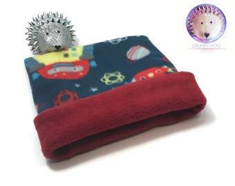Robot Fleece Cuddle Sack to Snuggle a Hedgehog, Guinea Pig, Ferret, or any Small Pet~ Anti-Pill Fleece Lining