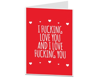 Rude Valentineu0027s Card. Naughty Valentine Card. Valentineu0027s Card For Him U0026  Her. Filthy