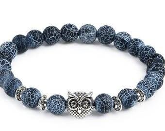 Natural Stone Bracelet Owl Bracelet