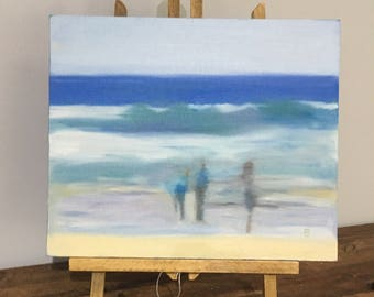seascape, seaside painting, seascape painting, blurred painting, blurred, sea painting, ocean painting, gift idea, unique gift, seaside gift