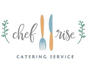 Chef Logo / Catering Logo / Food Logo / Kitchen Logo / Eating Logo / Fork Knife Logo / Utensils Logo / Vine Logo / Nature Logo Design