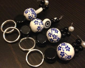 Stitch Markers - Floral Checkpoints