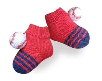 Baby socks Soft baby booties baseball socks  booties