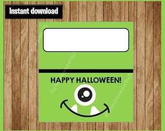 Monster Halloween Bag Toppers - Halloween Bag Labels - Halloween Treat Bags - Halloween Treat Tags