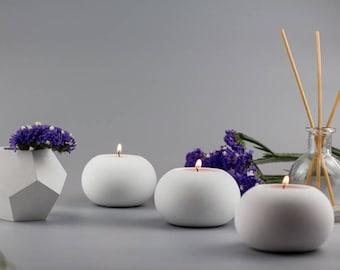 Concrete candle holder Set