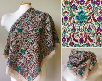 Vintage scarf, vintage scarf shawl,
