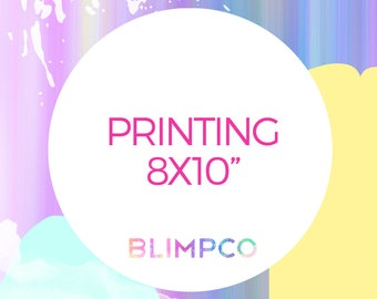 "Printing for any 8x10"" design in the store"