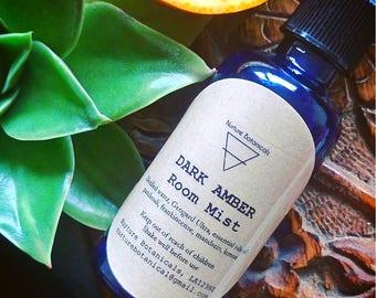 Dark Amber Room Mist Natural Ingredients