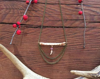 Fox bone and tooth necklace