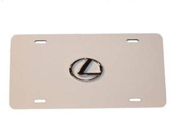 White - Lexus License Plate Aluminum