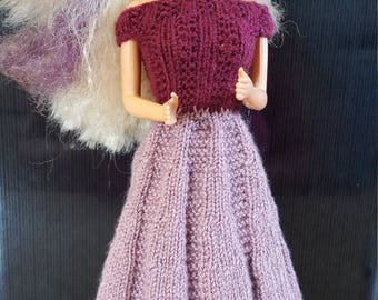 Hand knitted Barbie dresses