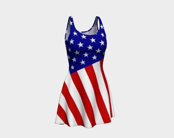 American flag dress, USA dress, 4th of July dress, fourth of July outfit